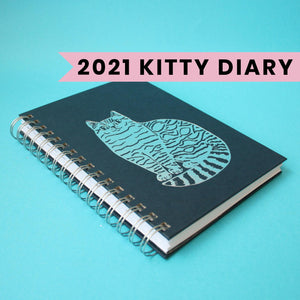 Able & Game - 2021 Kitty Diary | 2021 Planner | Cat Diary | Weekly Planner