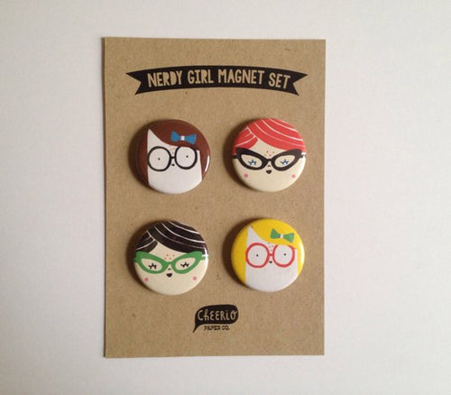 Cheerio Paper Co - Magnet set - Nerdy Girls