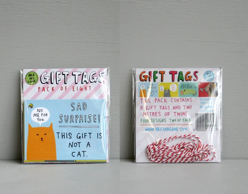 Able & Game - Kitty Cat Tags - Pack Of Eight