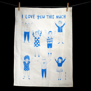 Able & Game - I Love You This Much Tea Towel