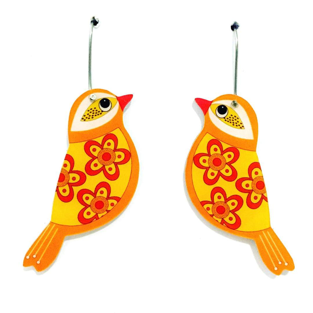 Smyle Designs - Yellow Bird Earrings
