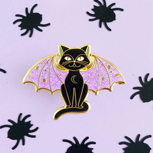 Jubly Umph -  WINGED CAT LAPEL PIN