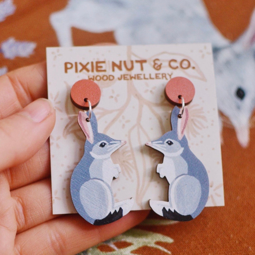 PIxie Nut & Co - Bilby earrings