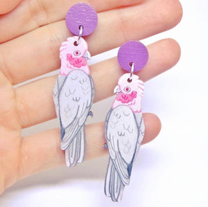 Pixie Nut & Co - Galah earrings