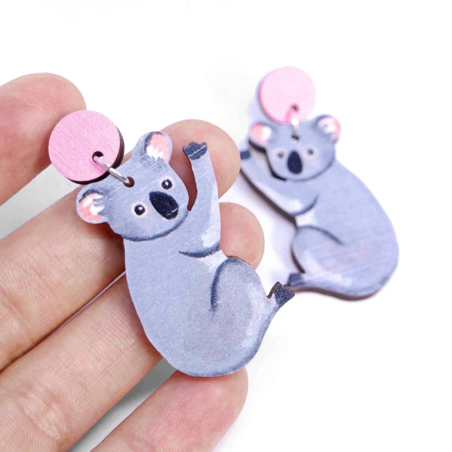 Pixie Nut & Co - Koala earrings