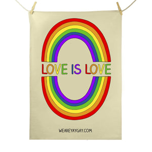 Red Parka (Jen Cossins) - Love is love tea towel