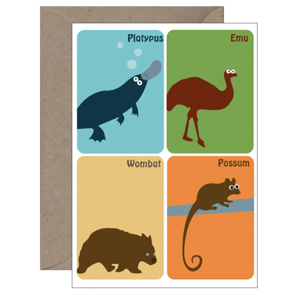 Mokoh Design - Aussie Animals II Magnet Card