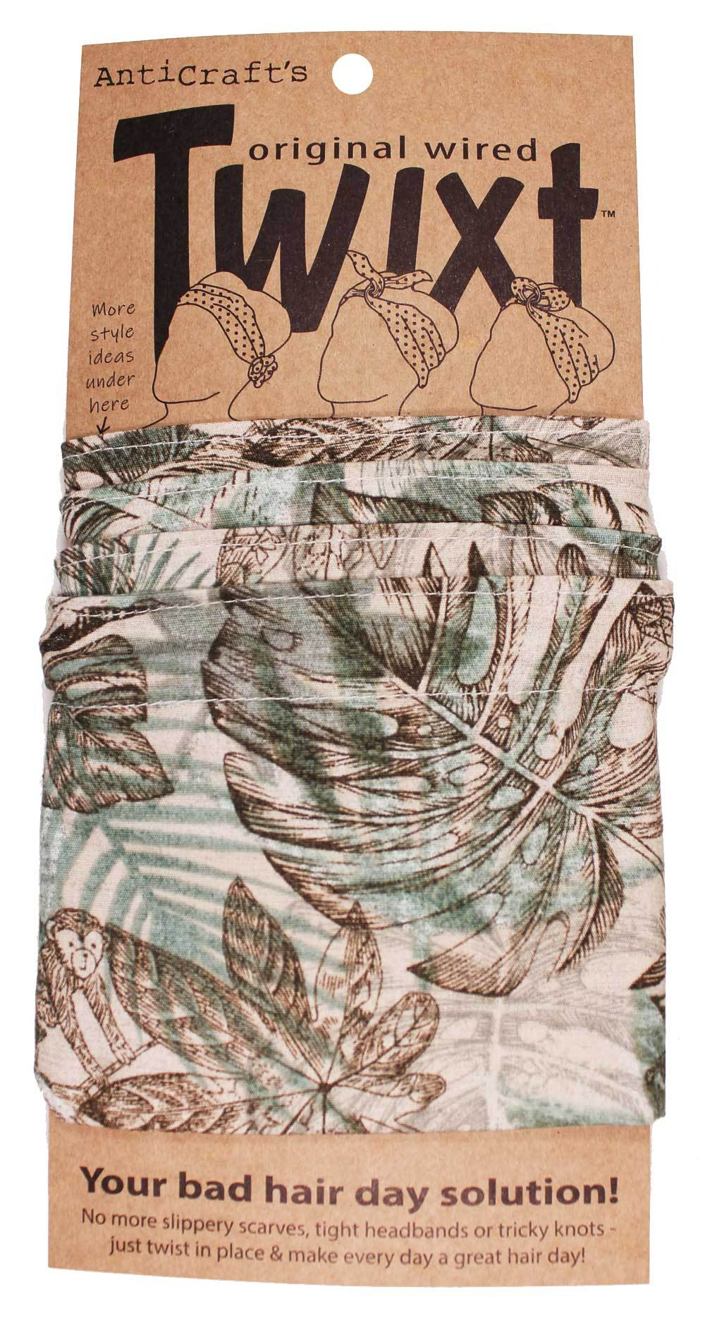 AntiCraft - Wired Head Scarf TWIXT JUNGLE WITH MONKEYS