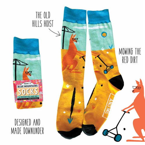 Blue Mountains Socks : Outback backyard