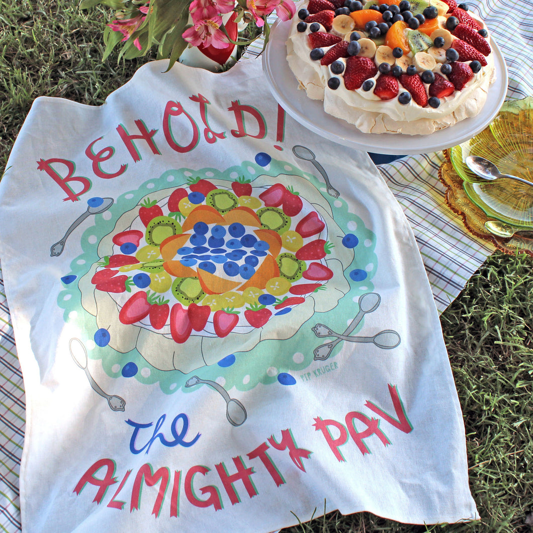 Pip Kruger Tea Towel - The Almighty Pav