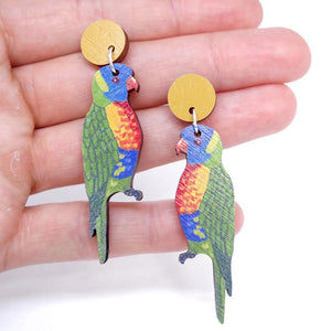 Pixie Nut & Co - Rainbow Lorikeet earrings