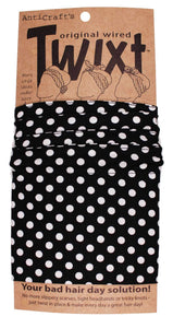 AntiCraft - Wired Head Scarf TWIXT BLACK & WHITE SPOT SMALL