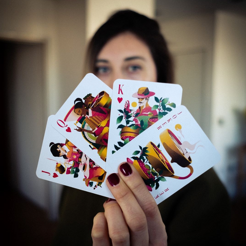 Coffee Themed Playing Cards