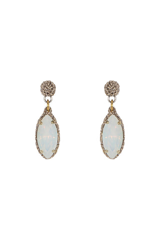 Oval Opal Drop Earrings L/ER003