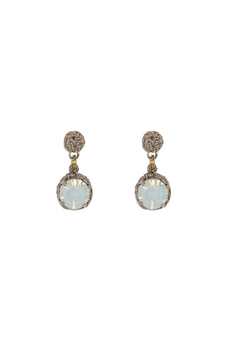 Round Opal Drop Earrings L/ER004