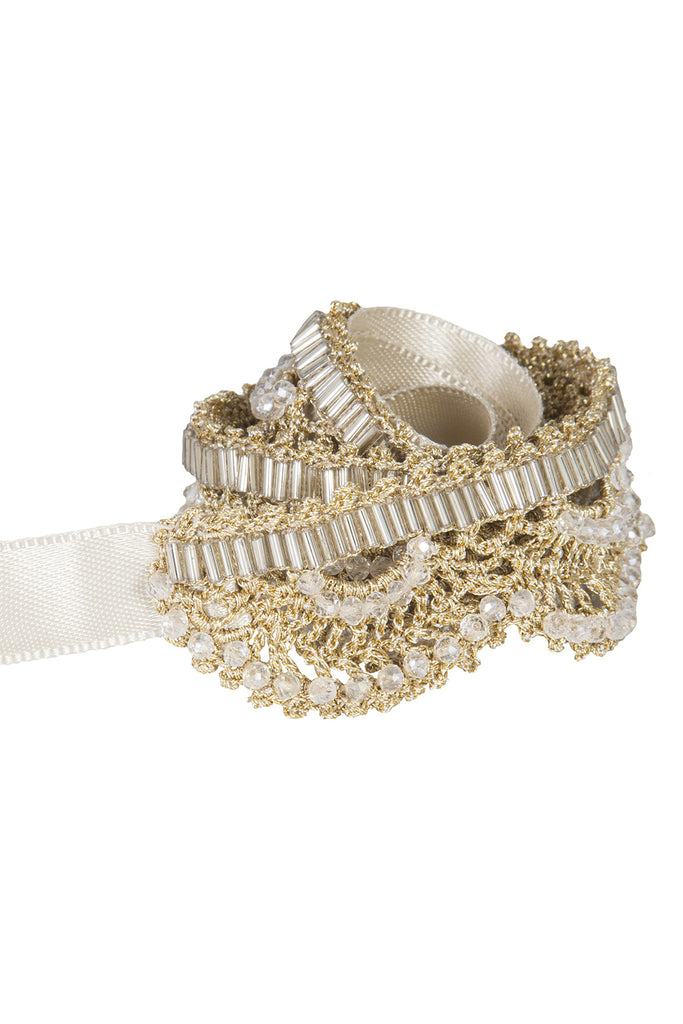 Gold Crochet Belt L/SH002
