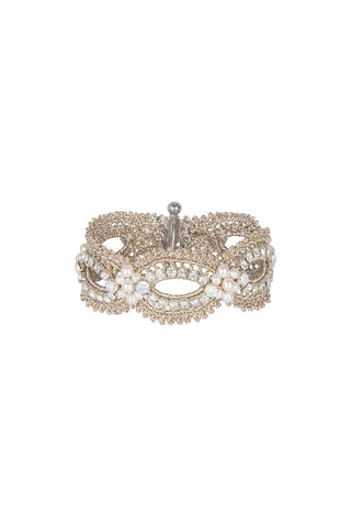 Diamante & Crochet Cuff