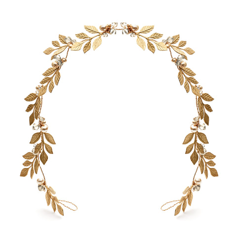 Gold Laurel Leaf Hair Wreath