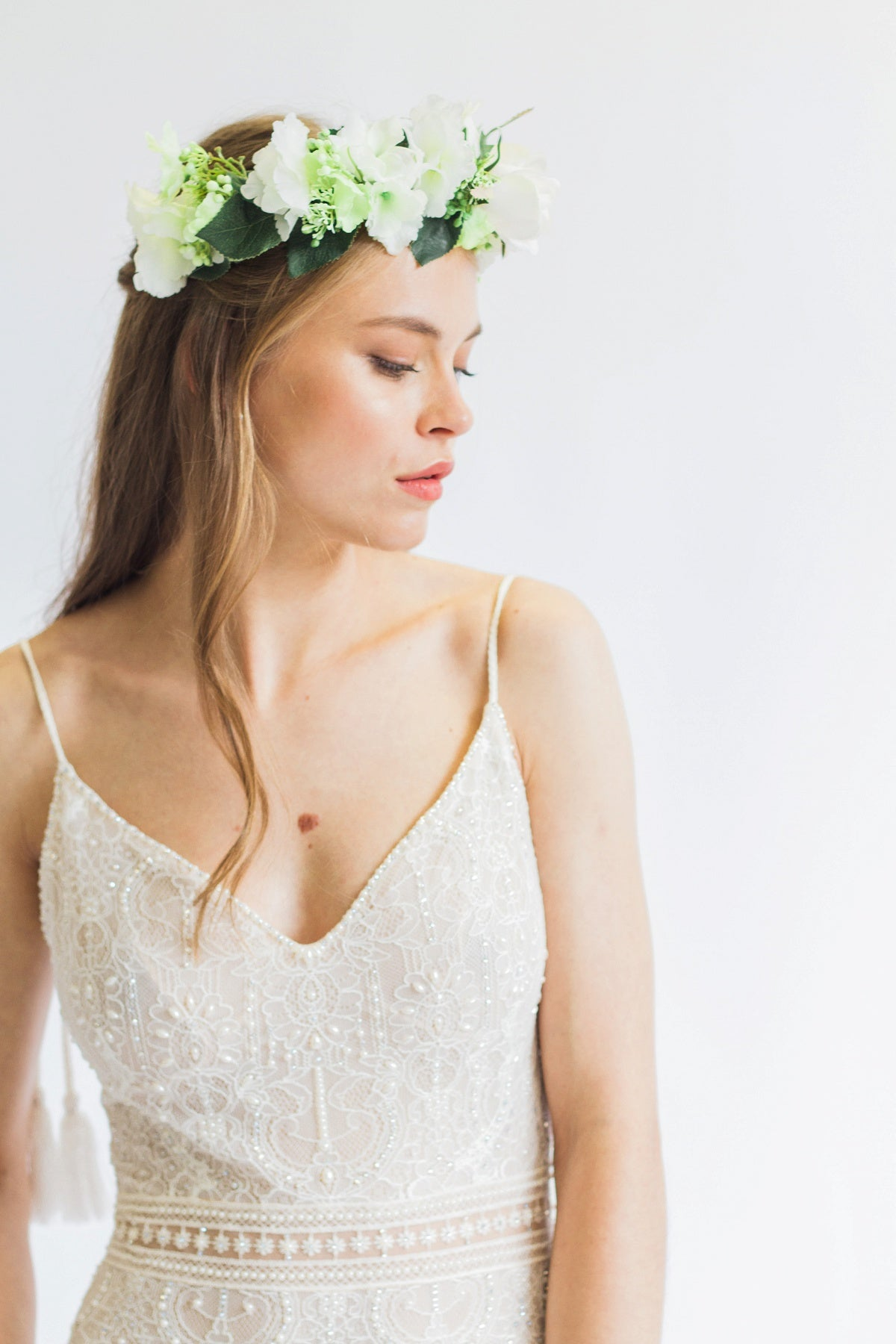 Ivory flower crown wedding flower crown uk wedding flower crown uk izmirmasajfo