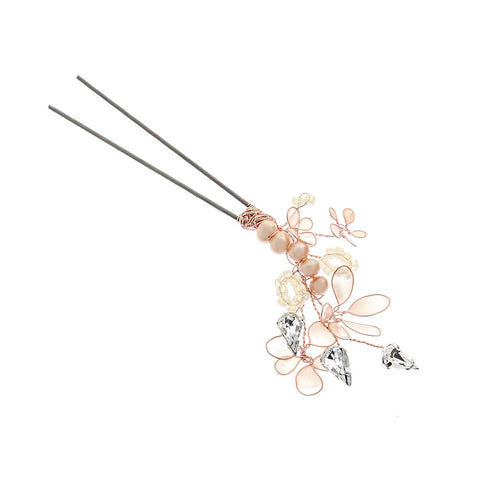 Cherry Blossom Gold Dust Hair Pin