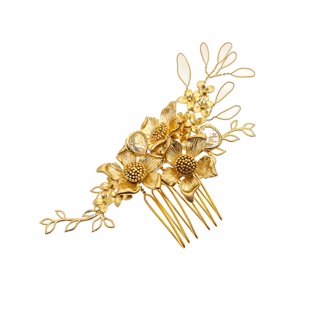 Gold Dust Grecian Tendril Hair Comb