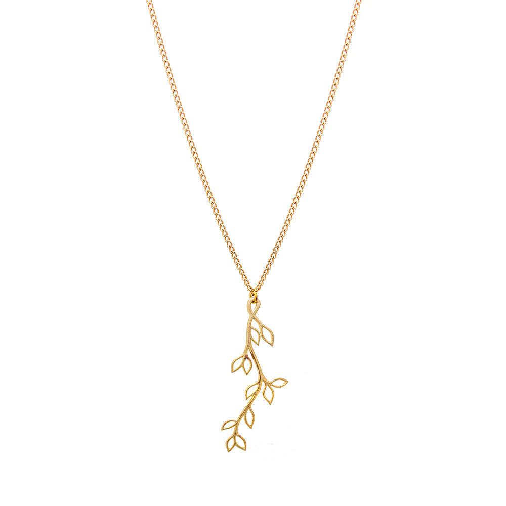 Gold Dust Trailing Vine Necklace