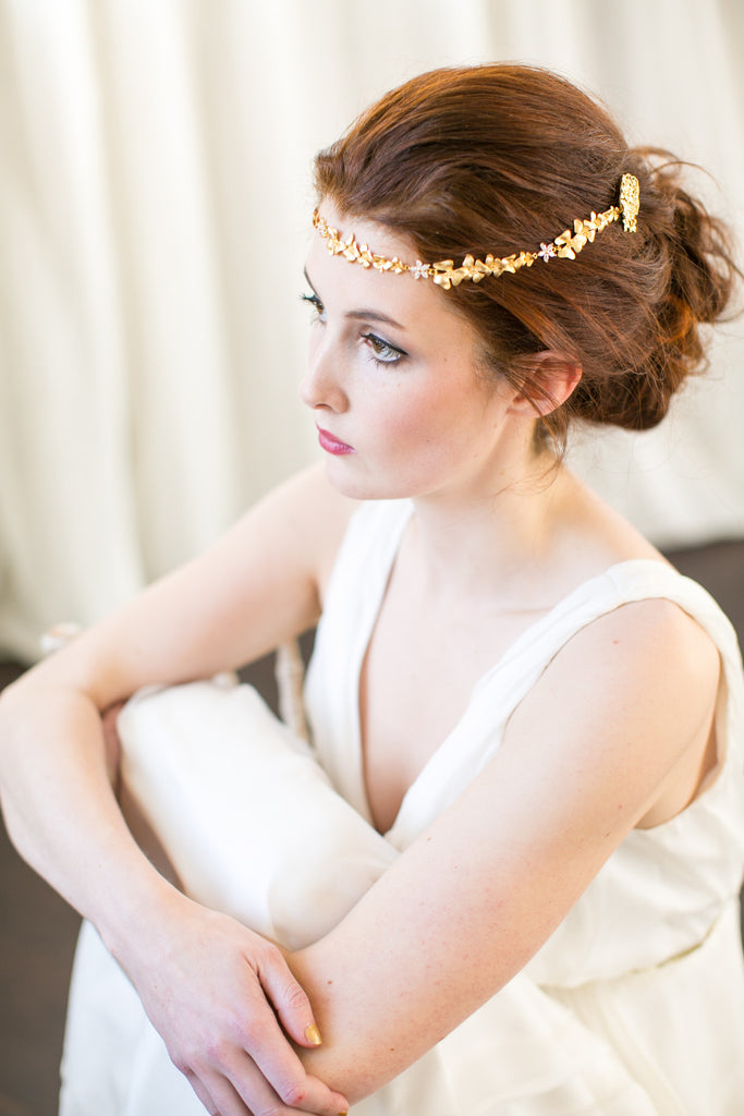 Gold Orchid Forehead Band