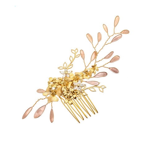 Golden Shadow Orchid Bridal Hair Comb