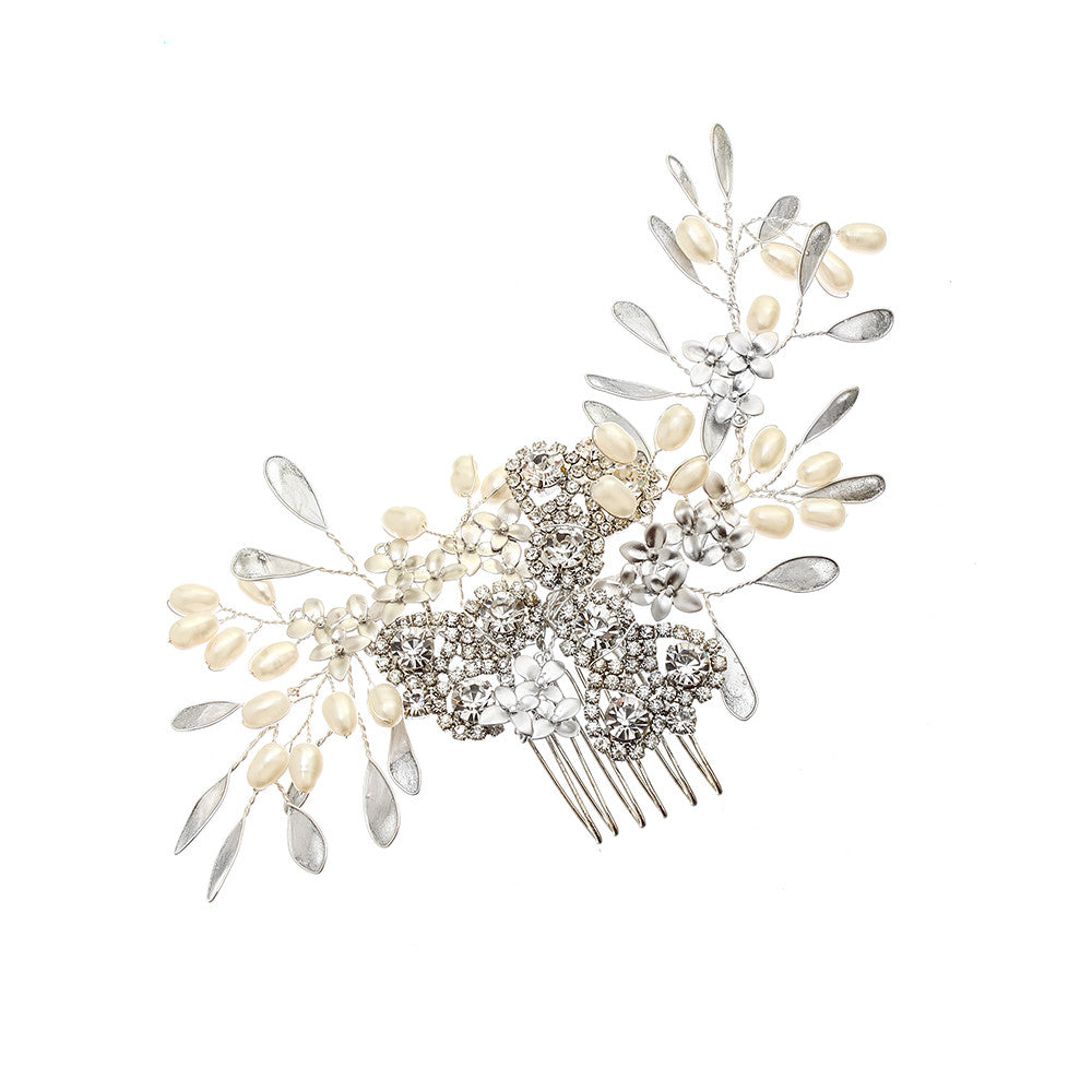Pearl Blossom Sparkle Hair Comb