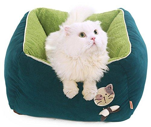 PLS BIRDSONG Princess Plush Bolster Pet Bed, Dog Bed, Cat Bed, Dog Beds for Small Dogs, Completely Removable and Washable Cover