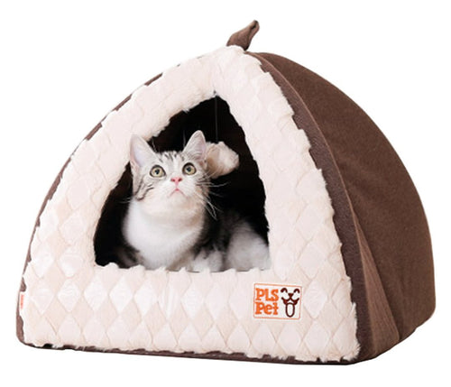 Pet Tent Velvet Cuddle Bed, Soft Dog House, Dog Cave, Cat Cave, Dog Bed, Cat Bed, Dog Beds for Small Dogs