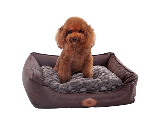 PLS BIRDSONG Brownie Bolster Pet Bed, Dog Bed, Cat Bed, Removable Cover, Completely Washable