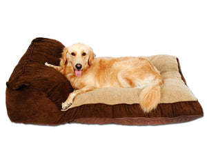 Siesta Deep Dish Dog Bed Brown, For Large Dogs, Removable Covers, Easy clean, Extra Thick