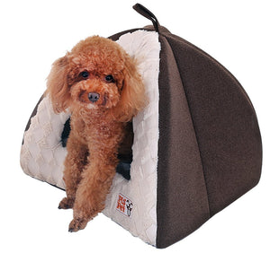 PLS BIRDSONG Pet Tent Velvet Cuddle Bed, Soft Dog House, Dog Cave, Cat Cave, Dog Bed, Cat Bed, Dog Beds for Small Dogs
