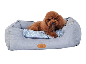 Trellis Bolster Dog Bed, Gray, Fashionable and Stylish Look with Materials