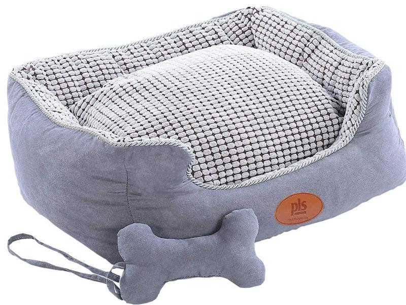 uk extra pillow beds acornpets amazon large coffee cat bed pet deluxe fleece big dog color co b