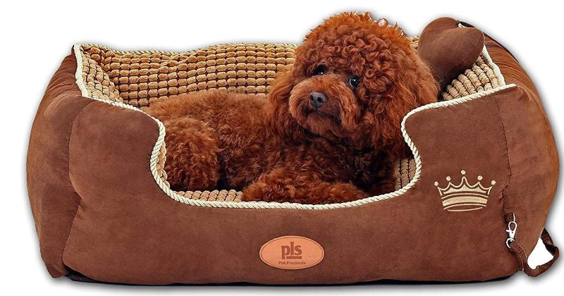 Paradise Bolster Large Dog Bed with Pillow, Extra Plush, Completely Removable Cover with Zipper, Machine Washable, Easy Clean, Durable