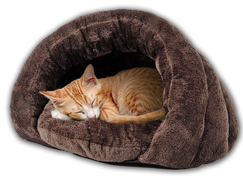 The Original Cuddle Pouch Pet Bed, Extra Small, Dog Cave, Cosy, For Burrower Cats and Puppies