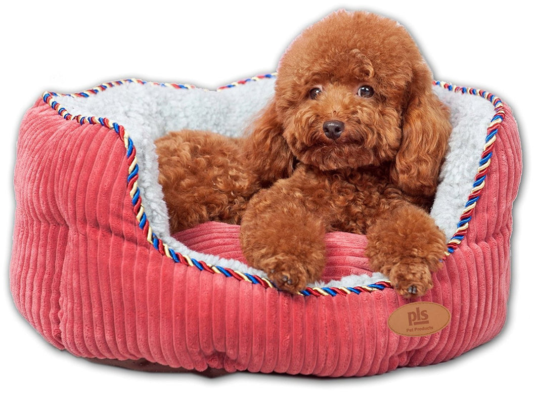 PLS Pet Snugg Bolster Pet Bed, Dog Bed, Completely Washable, Easy-clean, Modern Design, Durable