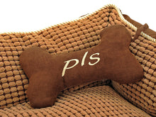 PLS BIRDSONG Paradise Bolster Large Dog Bed with Pillow, Extra Plush, Completely Removable Cover with Zipper, Machine Washable, Easy Clean, Durable