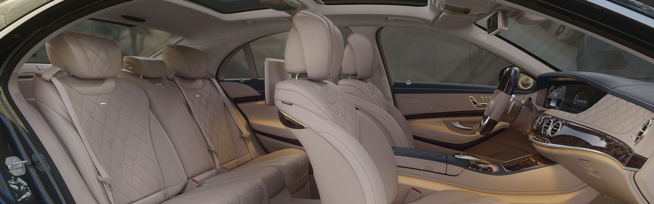 MERCEDES BENZ S-550 INTERIOR - LUXURY CHAUFFEUR SERVICE IN LOS ANGELES