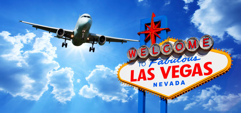 Las Vegas Sign Airplane Transportation Luxury Chauffeur Car Service