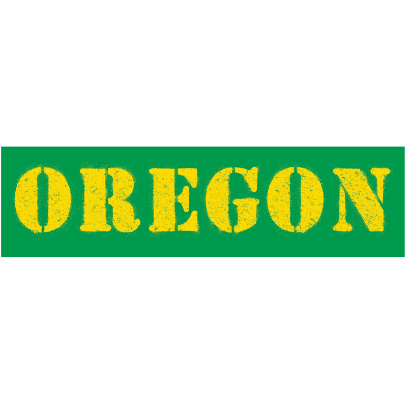 The Oregon Stencil Sticker