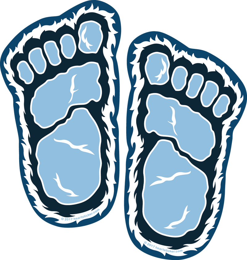 Small Foot the movie: Yeti Stroll and Yeti Foot Print Stickers