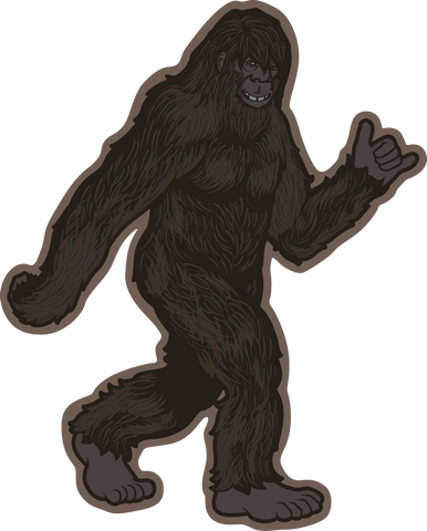 Black and White Tribal Bigfoot Stroll Sticker | Die Cut