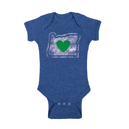 Infant Onesie Blue 6M & 12M | Heart in Oregon - Heart In Oregon
