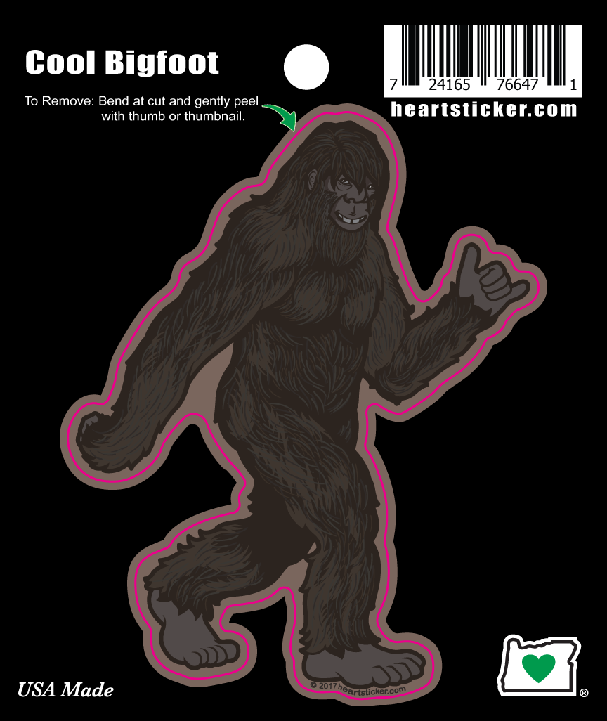 Bigfoot Hang Loose Stroll Sticker | Die Cut - Heart In Oregon