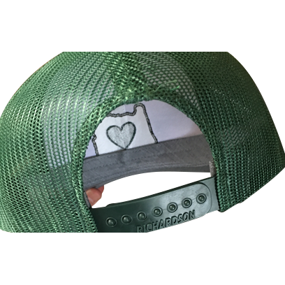 Trucker Hat - Green/White | Heart in Oregon - Heart In Oregon