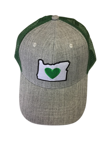 Beanie Cap - Embroidered Heart in Oregon Logo
