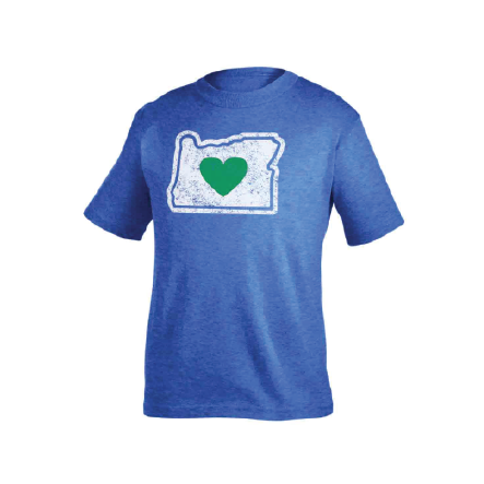 Kids T-Shirts Blue Heart in Oregon Vintage